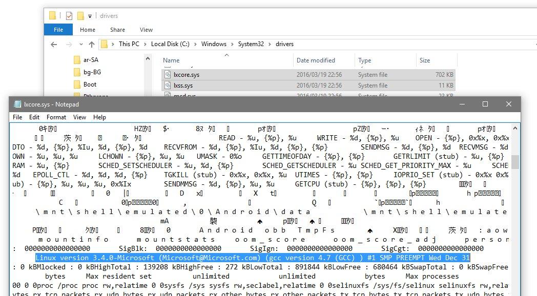なるほど、確かにLinuxがサブシステムとして入ってるっぽい。元々のAstoriaもサブシステムだったんですね。 https://t.co/12KkS9YAVu