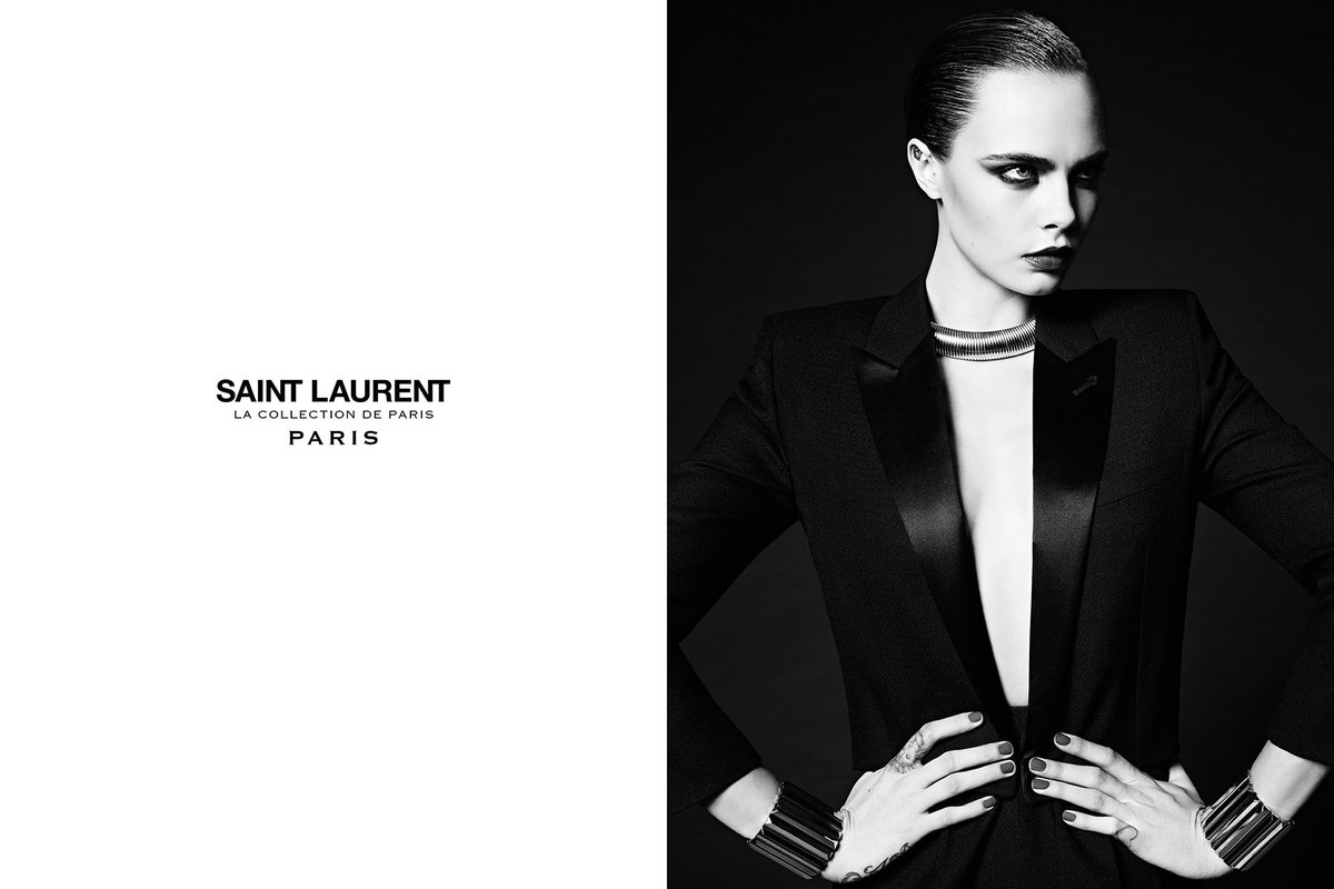 CARA DELEVINGNE / LE SMOKING SAINT LAURENT / LA COLLECTION DE PARIS / PHOTOGRAPHED IN NEW YORK MARCH 17TH 2016 https://t.co/7d6rYNjjaq