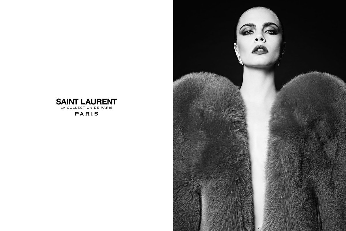 CARA DID HER FIRST CAMPAIGN WITH HEDI FOR THE SAINT LAURENT GRUNGE COLLECTION IN 2013 https://t.co/dSHEhfhYKQ
