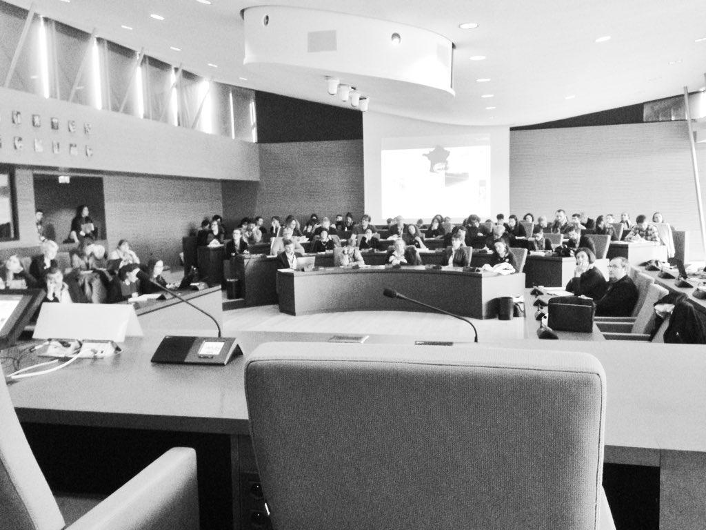 La Salle du Conseil, cadre austère de la session Humanités numériques @HumanisticaDH/@Archivistes_AAF #AAFtroyes16 https://t.co/rwpT24tPxv