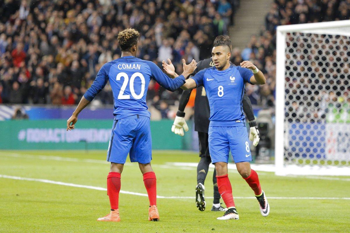 RT @FCBayernES: ¡Grande, Kingsley! #Coman marcó en el 4-2 ante Rusia su primer gol con Francia. https://t.co/XEjX12vfZx