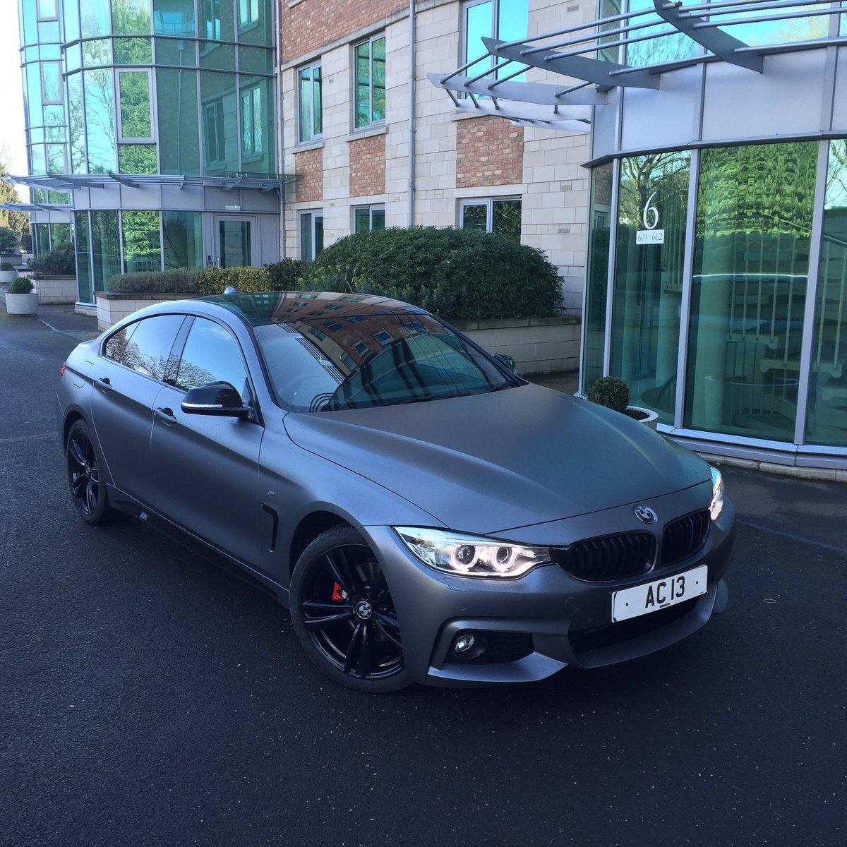 Ac13 Premier On Twitter Bmw 4gt Wrapped In Matt Grey With Black Wheels And Red Brakes Bmw 4series Ac13premier Https T Co Byamwdrtge
