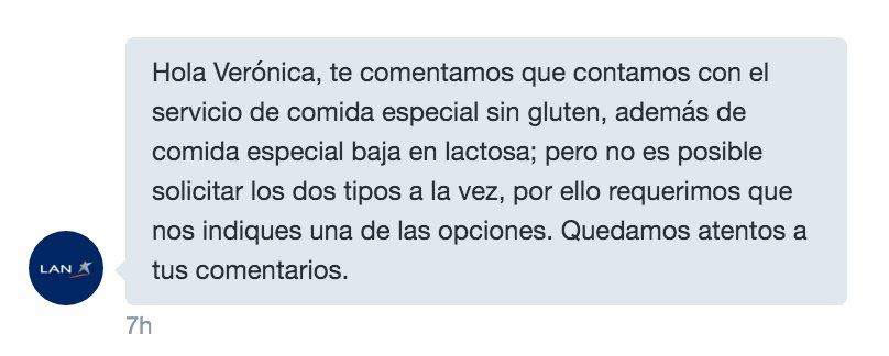 Lan Argentina y su respuesta ante el gluten y la lactosa