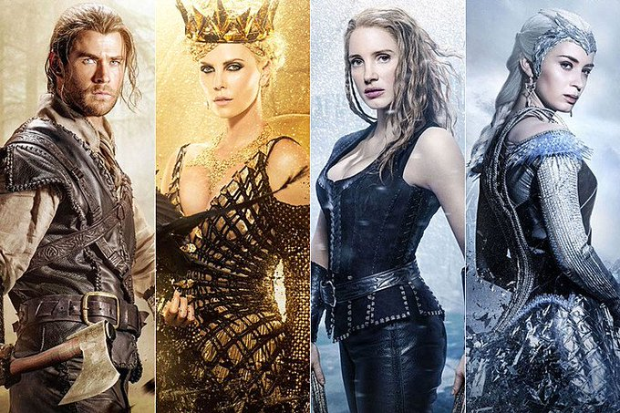 We're looking forward to the THE HUNTSMAN: WINTER'S WAR movie starring Chris Hemsworth, Emily Blunt: Out April 4th.