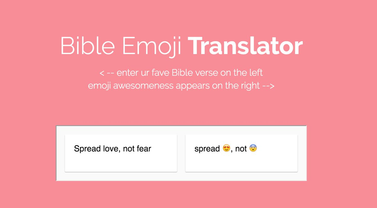 product hunt on twitter bible emoji translator translate bible