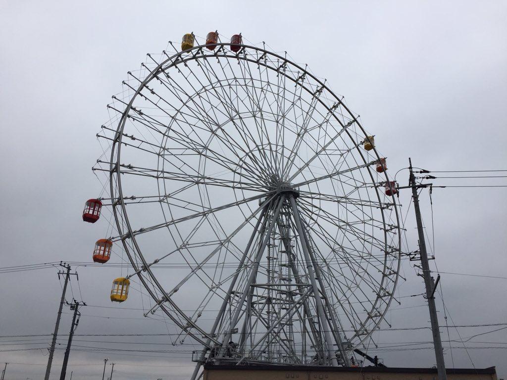 【速報】 金田の観覧車にゴンドラを取り付ける工事が始まりました。 https://t.co/iZdMOQ9NDd