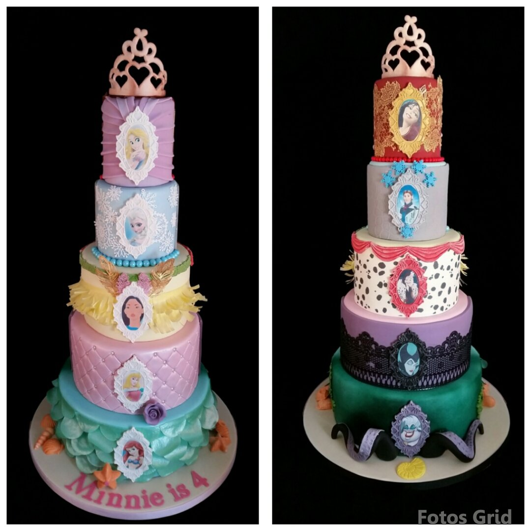 Sam Mellor on Twitter 2 sided Disney cake Princesses