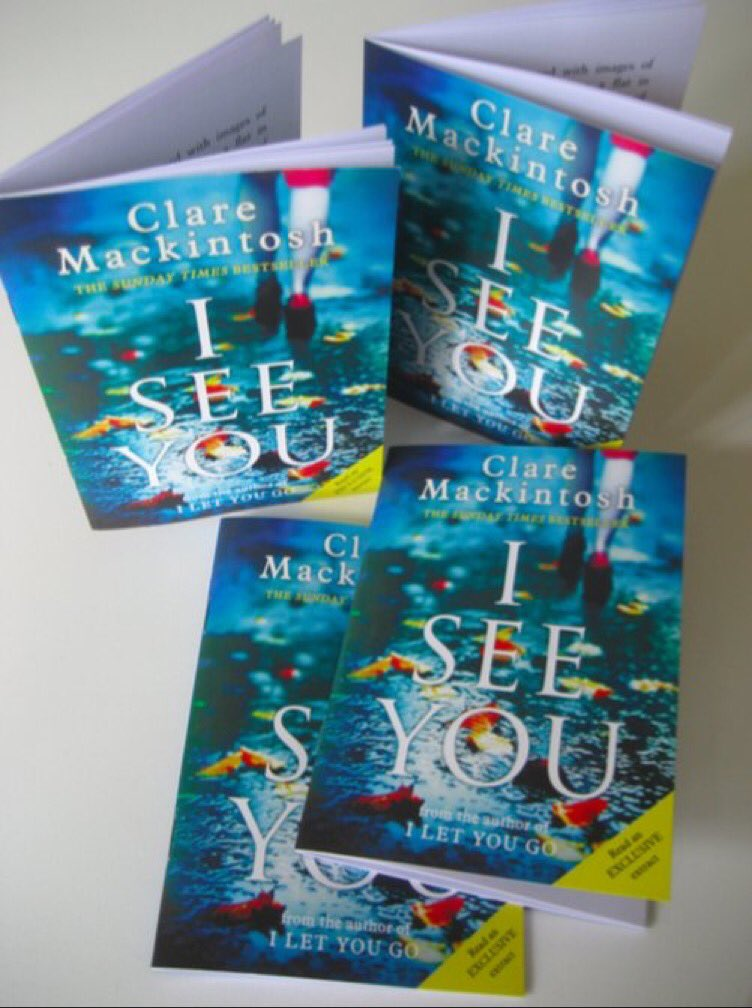 Not at #LBF16? Follow and RT to win one of ten signed first chapter #ISeeYou samplers. Winners picked at random. https://t.co/iackFAhWnO