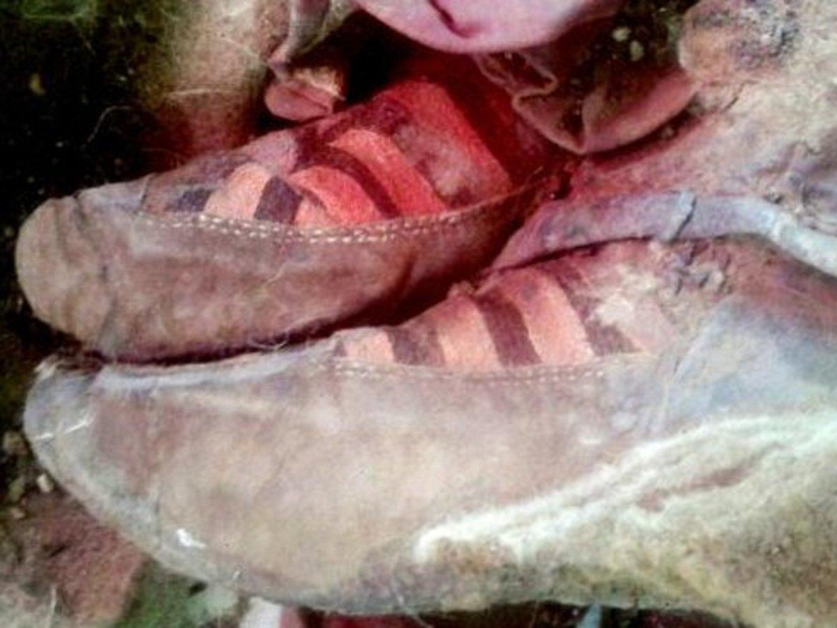 Adidas : ancient mummy wearing Adidas trainers | ShortList