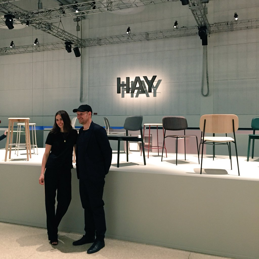 caroline kamp on twitter mette and rolf hay launching the new collections from hay and wrong. Black Bedroom Furniture Sets. Home Design Ideas