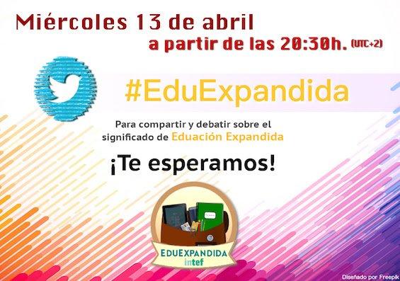 Thumbnail for #EduExpandida - TwitterChat 13/04/16 en el marco del MOOC Educación Expandida con nuevos medios