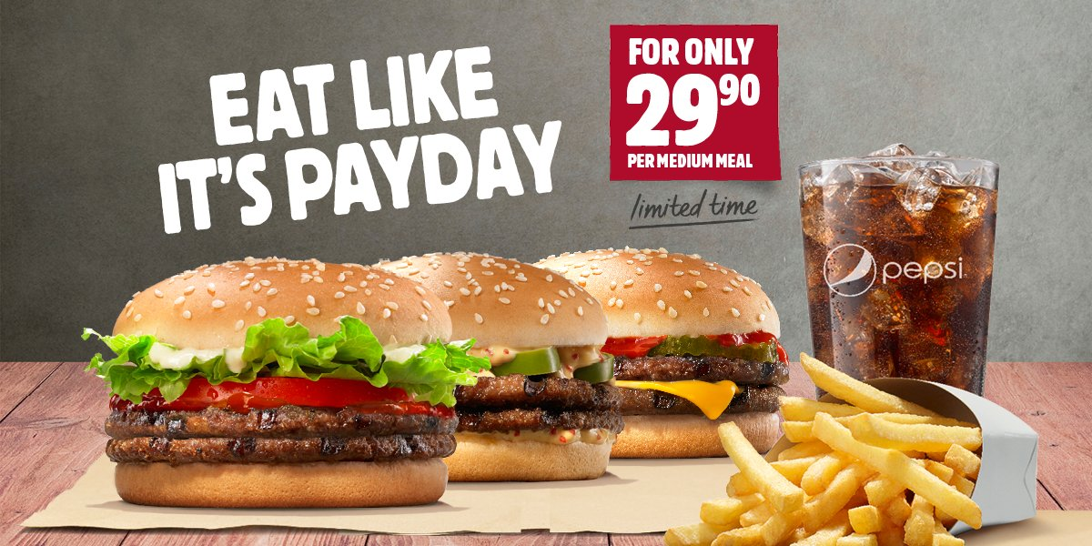 Burger King ZA On Twitter 3 Yummy Burgers 2 Patties 1 Great