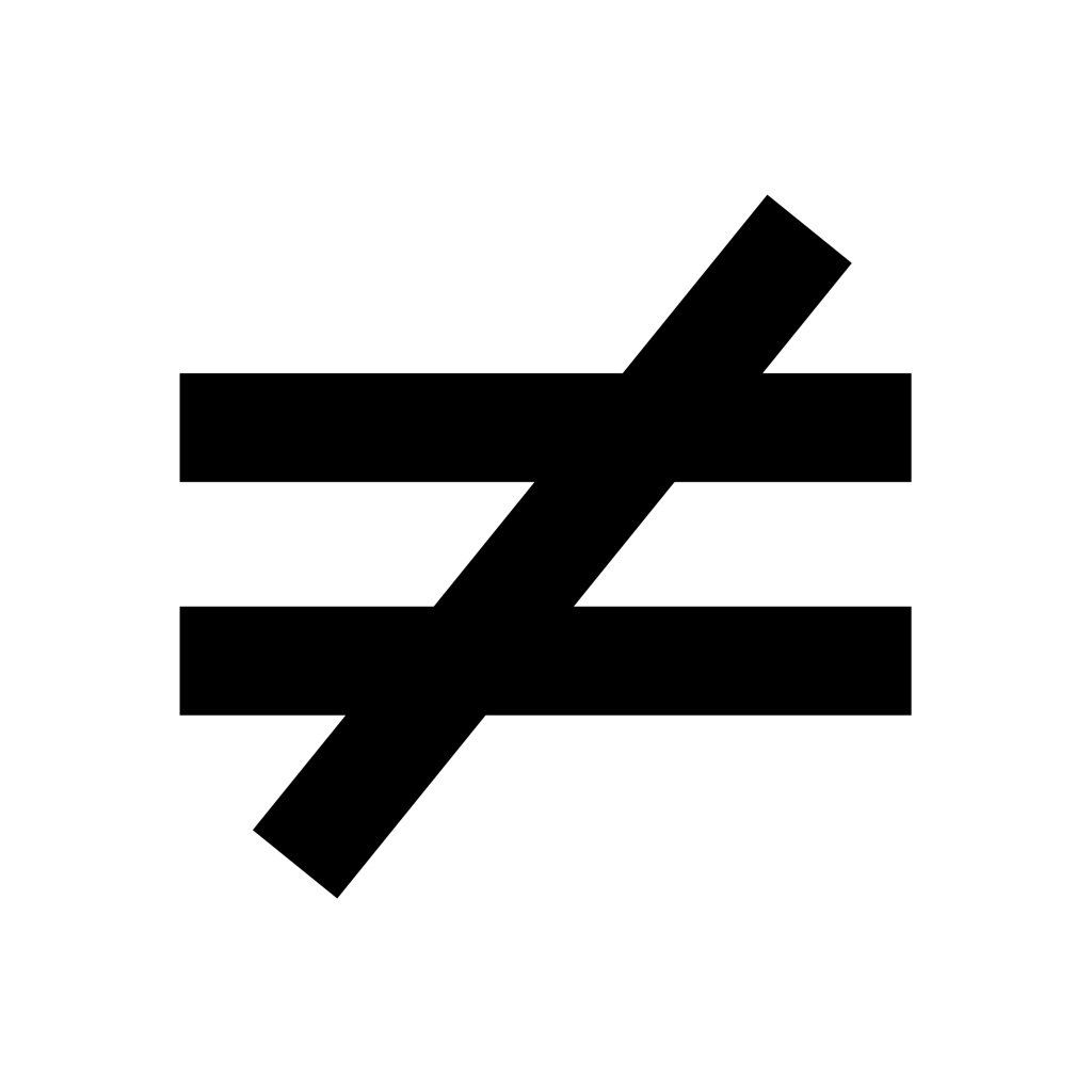 Rennie Pilgrem On Twitter Basic Math Symbol Not Equal Meaning