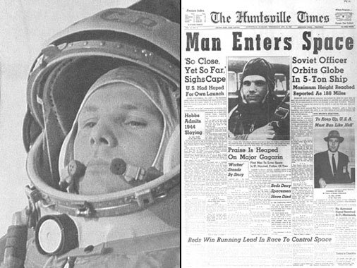 On this day in 1961 Yuri Gagarin became the first human to fly in space. See his bio at https://t.co/JIgb2L4XRT https://t.co/XZ5dvNpr85