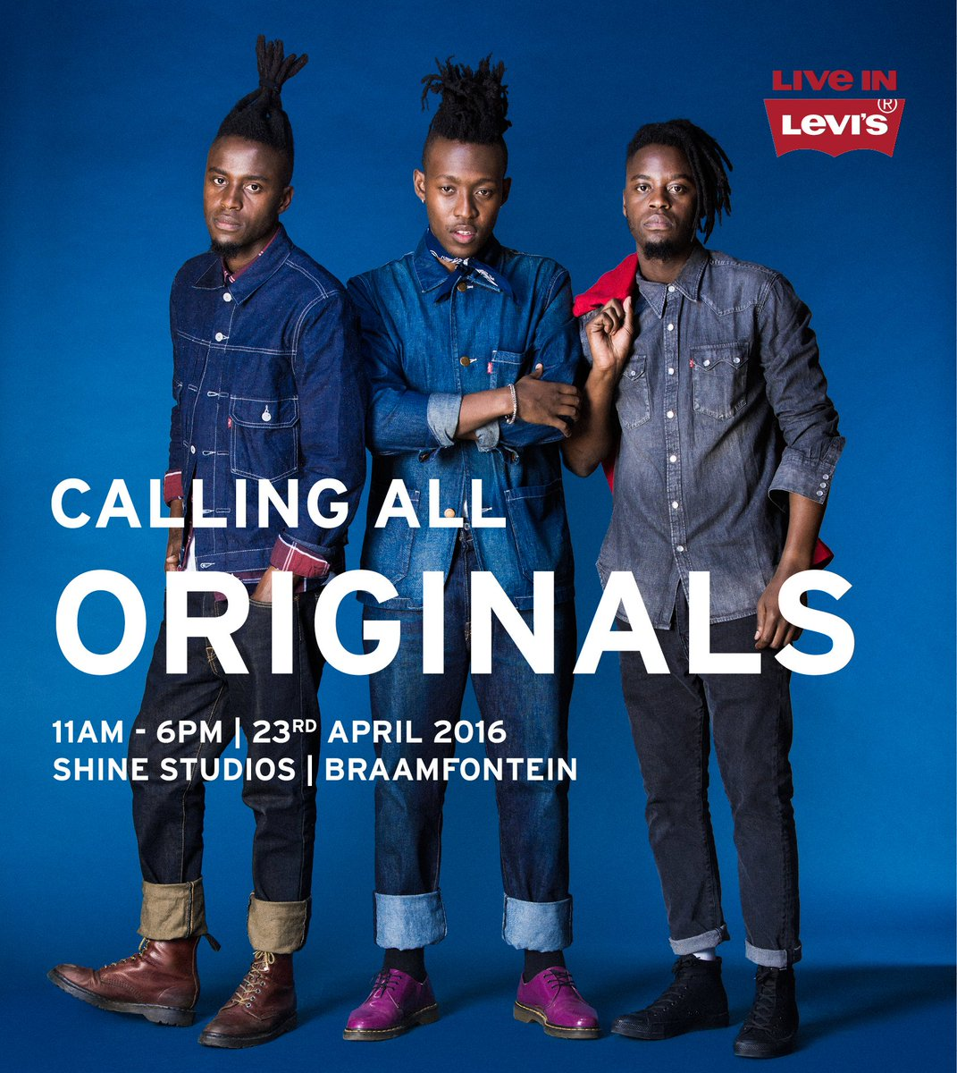 Be a part of the Levi's® We Are Original casting on 23 April. More info on https://t.co/MhEX4J4hln https://t.co/ZhMlvjypNH