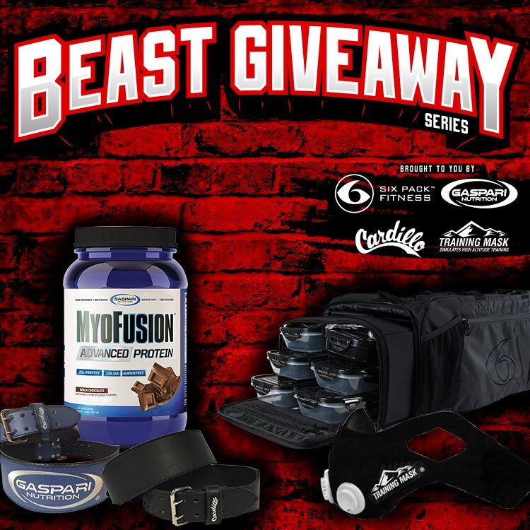 BEAST GIVEAWAY with @CardilloUSA @6PackFitness & @TrainingMask!! Enter now ➡️ https://t.co/hYSiLz1dch!! https://t.co/HnUCJ7ySyC