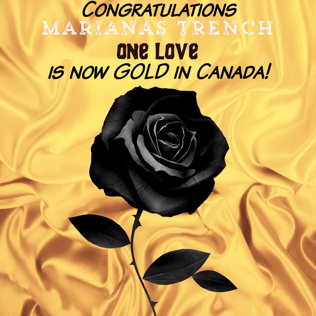 Congratulations @mtrench! #OneLove is now #Gold in Canada! @GoldPlatCA https://t.co/1C00Vu0dS3