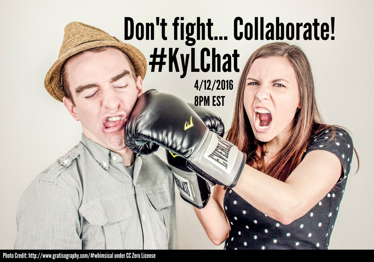 Reminder: #KyLChat tonight at 8pm EST Collaboration is the topic! #TLChat #KyEdChat @kasl_librarians https://t.co/SCWbICPeB1