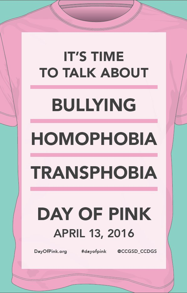 Tomorrow is #dayofpink Start the conversation to end bullying. Looking forward to seeing pink tomorrow. @tdsb https://t.co/zPTxCpqC4N