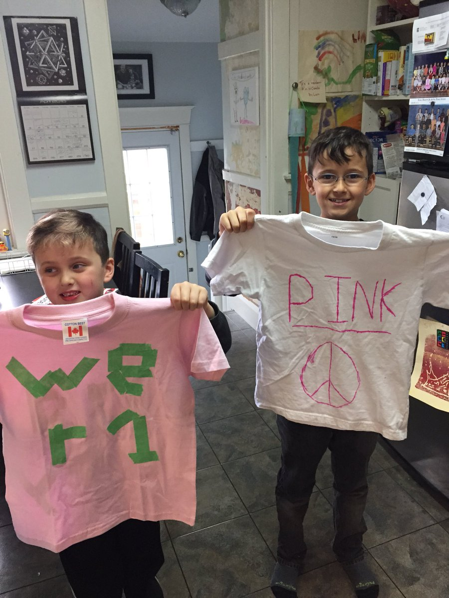 Ready like heck for Pink shirt day! #TDSBpink #pinkshirtday #StopBullying @tdsb @DukeofConnaught @BeattyPS https://t.co/PoxMfl2HdX