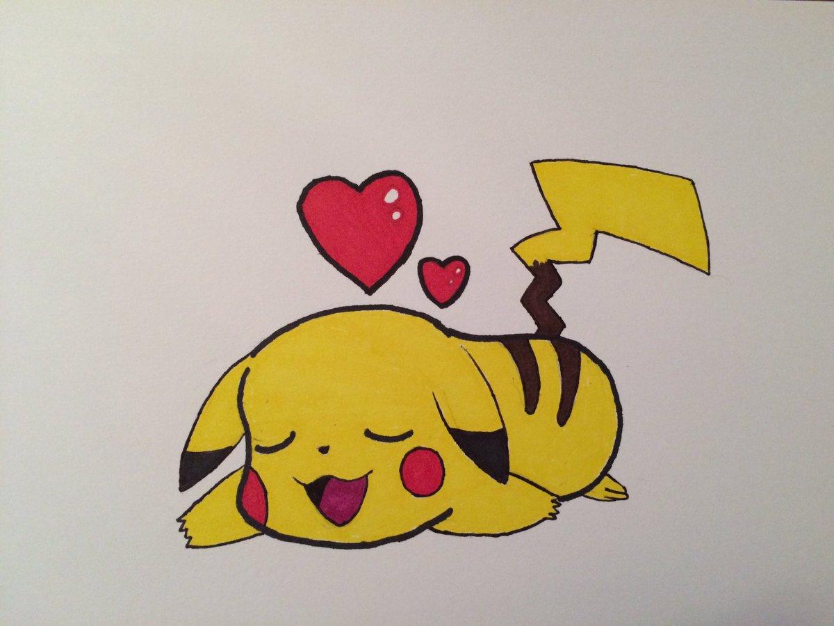 Luke On Twitter Little Pikachu Sleeping Felt Like Drawing