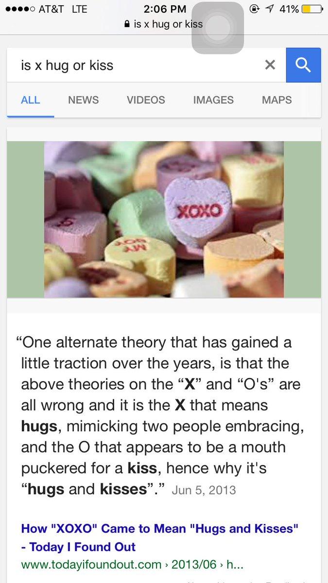 x means hug