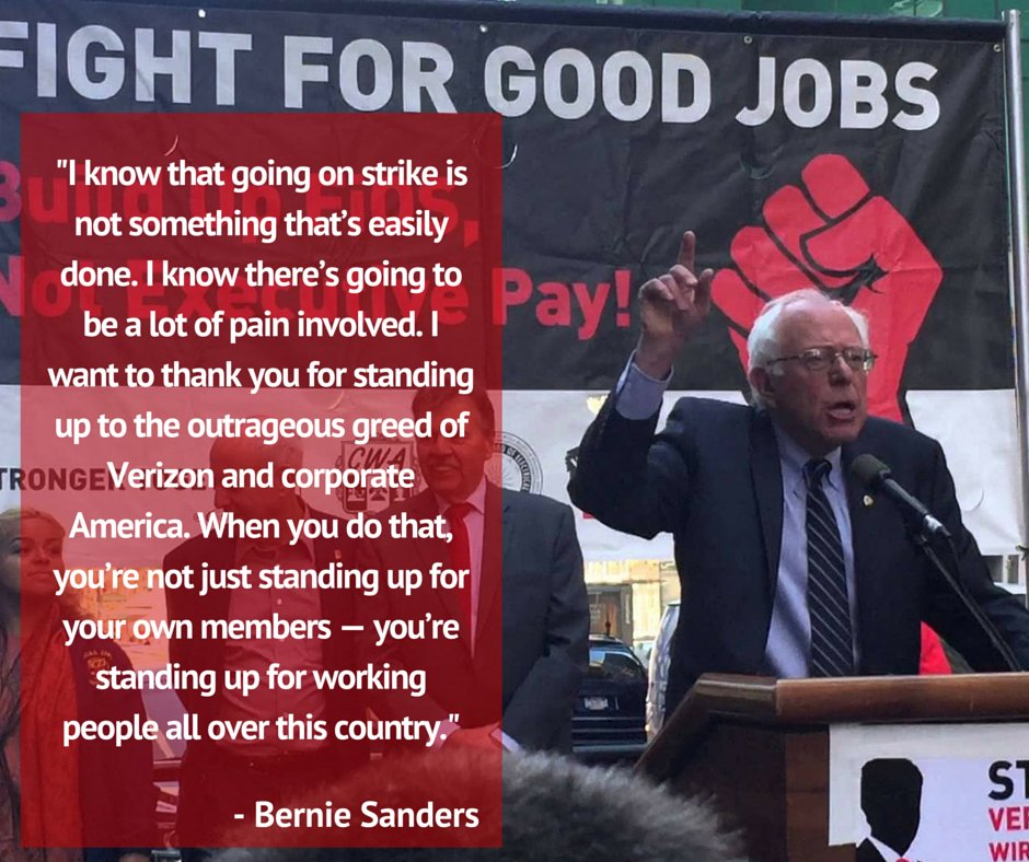 Thank you @BernieSanders for standing with Verizon and Verizon Wireless workers! Read more: https://t.co/XXwAdxFxmy https://t.co/0ZXJRkidB0