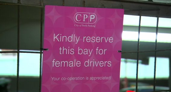 Reserved for Female Drivers