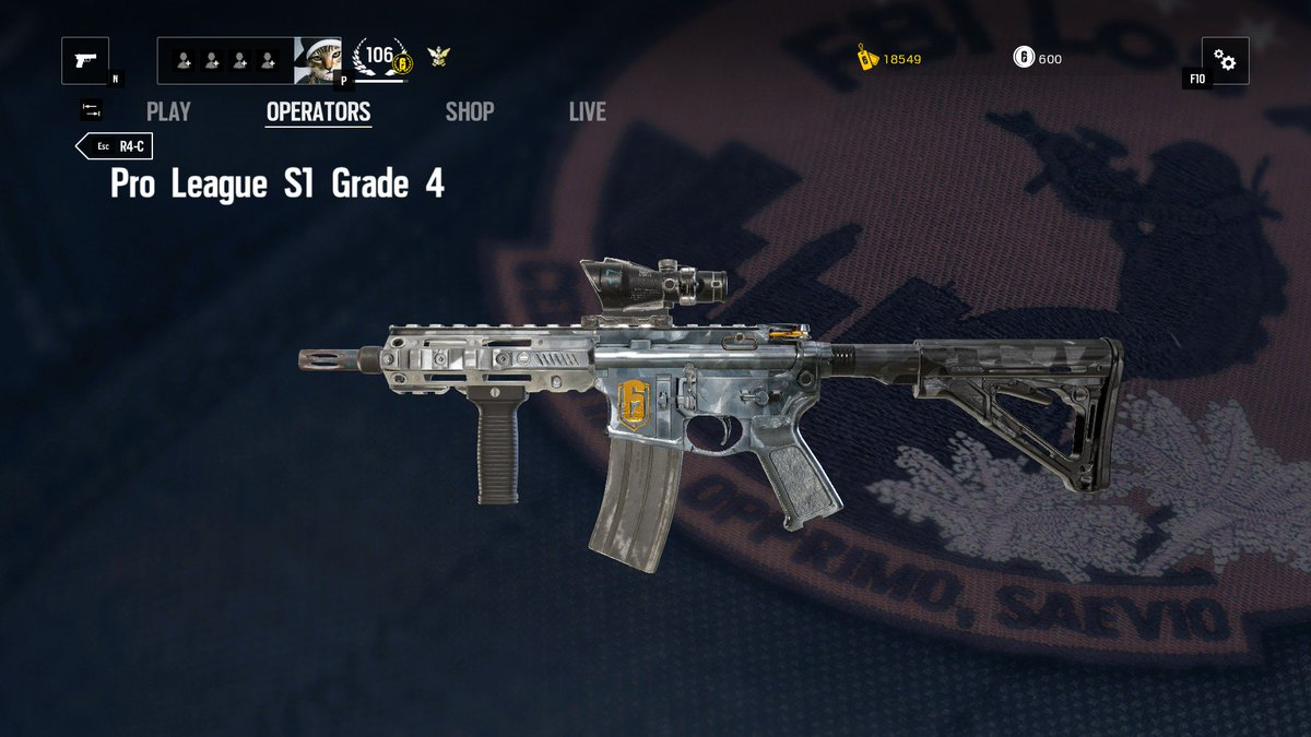"Black Ice Skin Rainbow Six Siege: The Clancy Report On Twitter: ""The Glacier Weapon Skin Is"