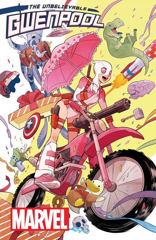 【お仕事】グウェンプール1巻「The Unbelievable Gwenpool #1」が本日4/13アメリカで発売になりました。久々のマーベルでの連載です。日本では来週あたりに入荷されると思いますのでどうぞよろしくお願いしますー!