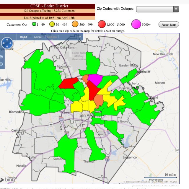 Cps Power Outage Map CPS Energy on Twitter: