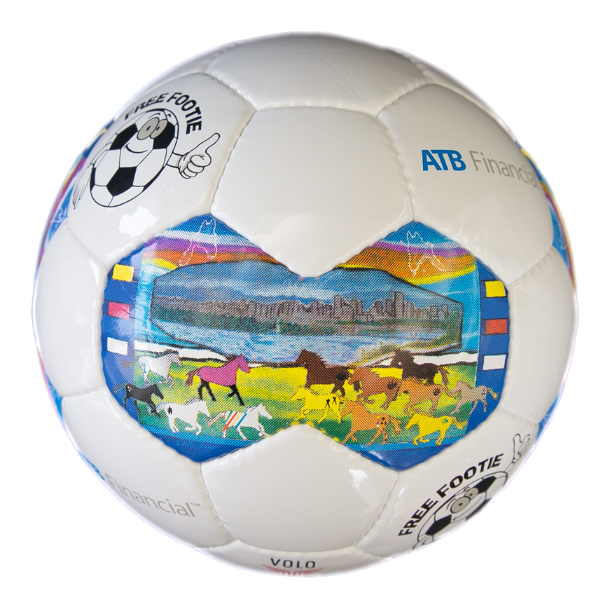 "Getting there! 48/100 ""Edmonton Treaty 6 Soccer Balls"" sold! Proceeds support our kids. Beautiful art by @Cree8Dawn https://t.co/3TWcnmxKBF"