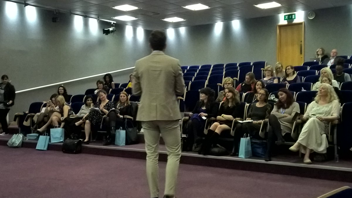 View from the front at @WomensEntKent #wekent @dknowlton1 strutting his stuff ;-) #shesDigital https://t.co/0lrtoBXRO7