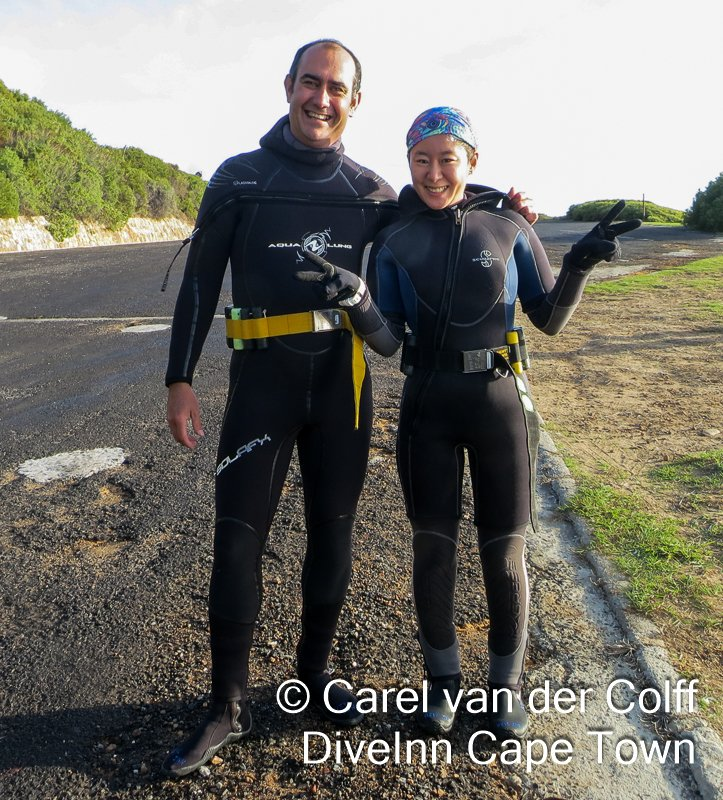@lovecapetown in #falsebay Looking for #cowshark &amp; #nudibranchs, had a great dive in 15 degree water &amp; 7mt viz.<br>http://pic.twitter.com/DQDnWYwuAX