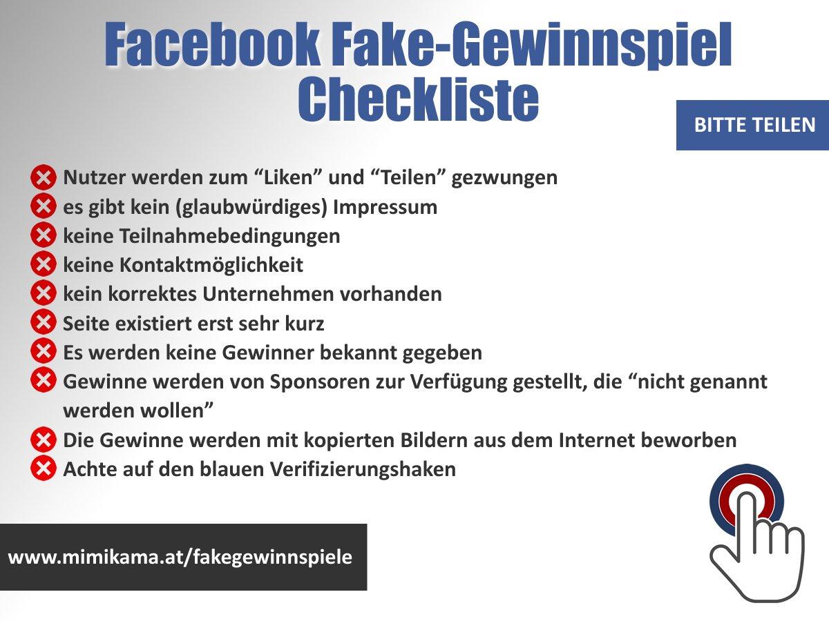 Fake gewinnspiel facebook
