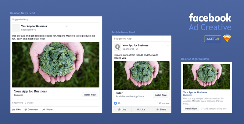 sketch repo on twitter a handy facebook ad template for sketch by