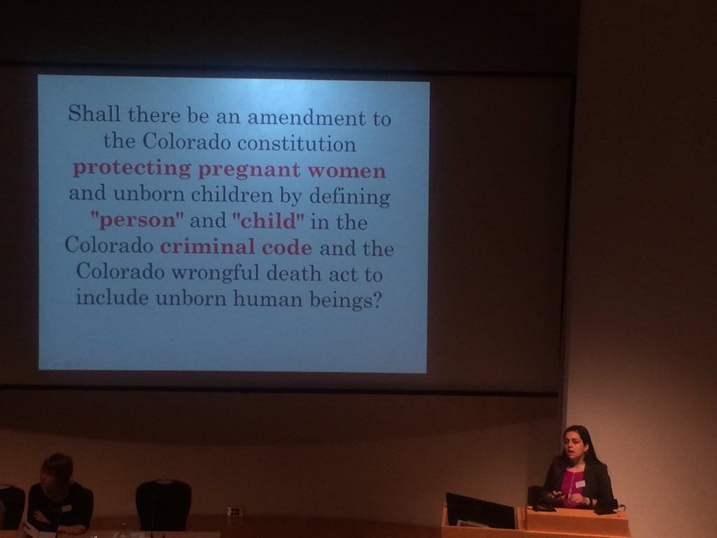 Personhood laws pushed under guise of protecting pregnant women, yet used to punish. @NAPW #policingpregnancy https://t.co/hjGJr7V2n9