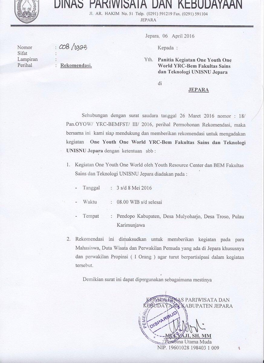 yrc indonesia on twitter quot ganjarpranowo bapak gubernur untuk surat permohonan audiensi