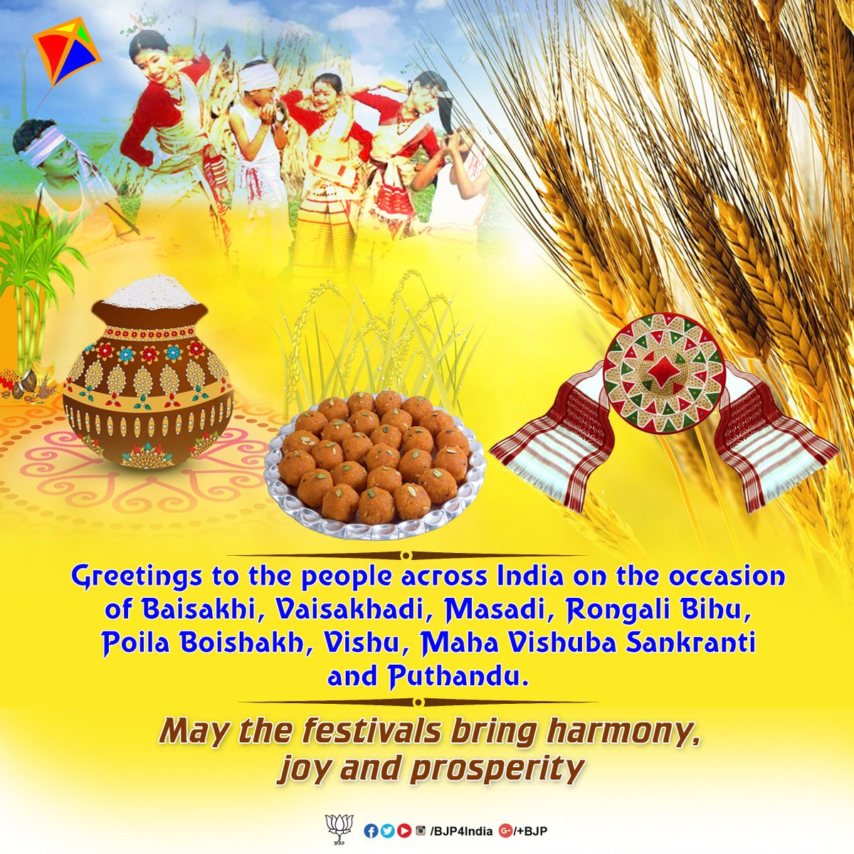 Bjp On Twitter Greetings On The Occasion Of Baisakhi Rongali Bihu