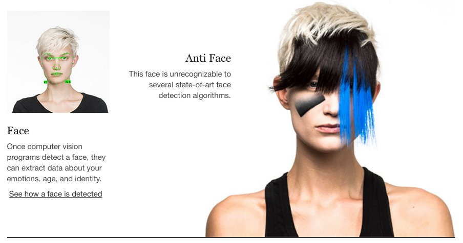 This anti-face-detection dazzle fashion is incredibly cyberpunk: https://t.co/eL2iF47HzG https://t.co/hYMses9hs0