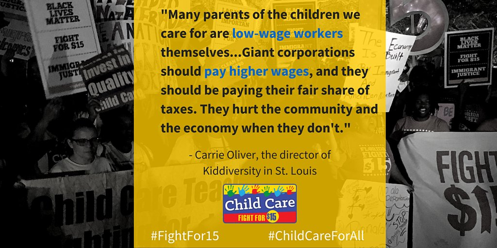 When giant corporations don't pay their fair share in taxes, our communities suffer. #FightFor15 #ChildCareForAll https://t.co/X4i5exjqWp
