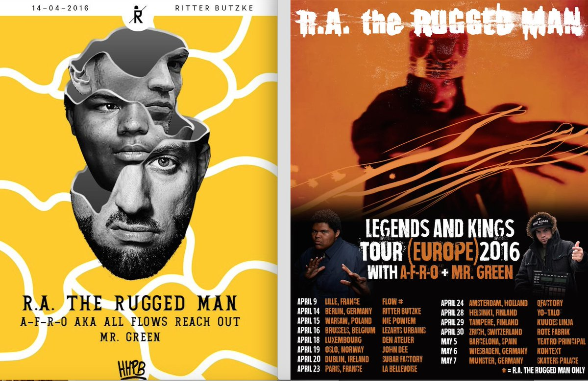 R A The Rugged Man On Twitter Berlin Germany I Will Be Live In Concert April 14 With F O And Mr Green European Tour Dates Are Listed Here
