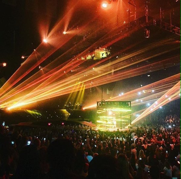 #PurposeTourAtlanta night 2 .. @justinbieber gonna be lit ⚡️