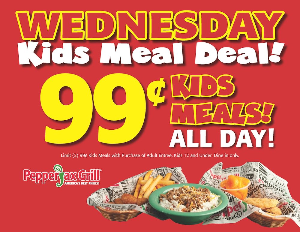PepperJax Grill On Twitter Join Us For Kids Meal Deal Wednesday