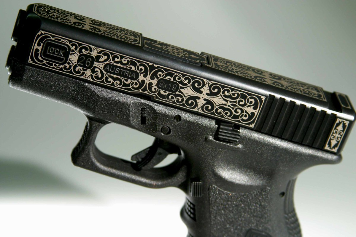 Glock 19 with Gold Inlay