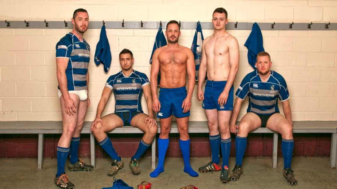english rugby team showering