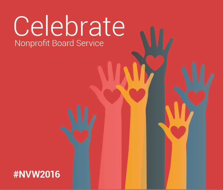 During National Volunteer Week, BoardSource celebrates our favorite volunteers: nonprofit board members. #NVW2016 https://t.co/0s8ioxJ0O7