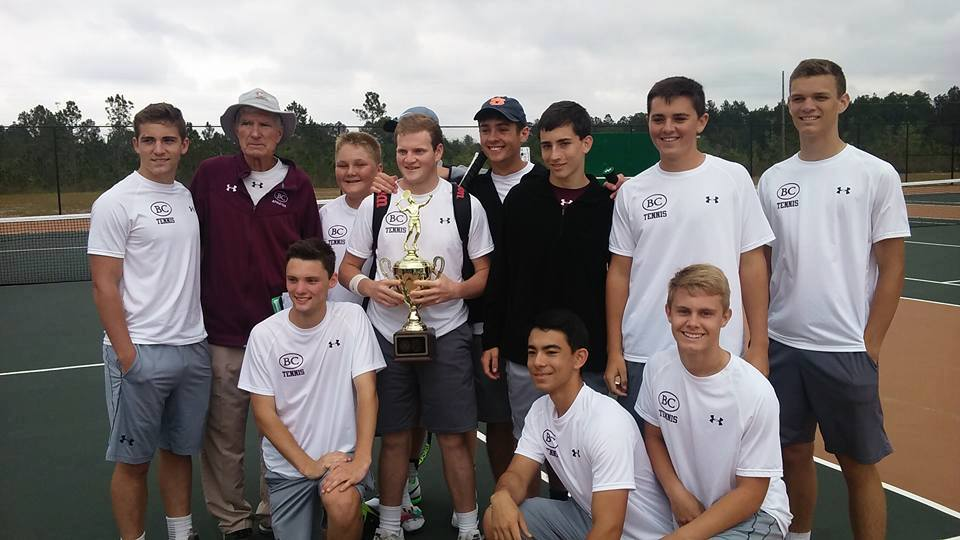Benedictine Military School -  Boy's Tennis Team with Coach Ken Cooper  (2nd from left) (Photo from Benedictine Military School / Twitter)