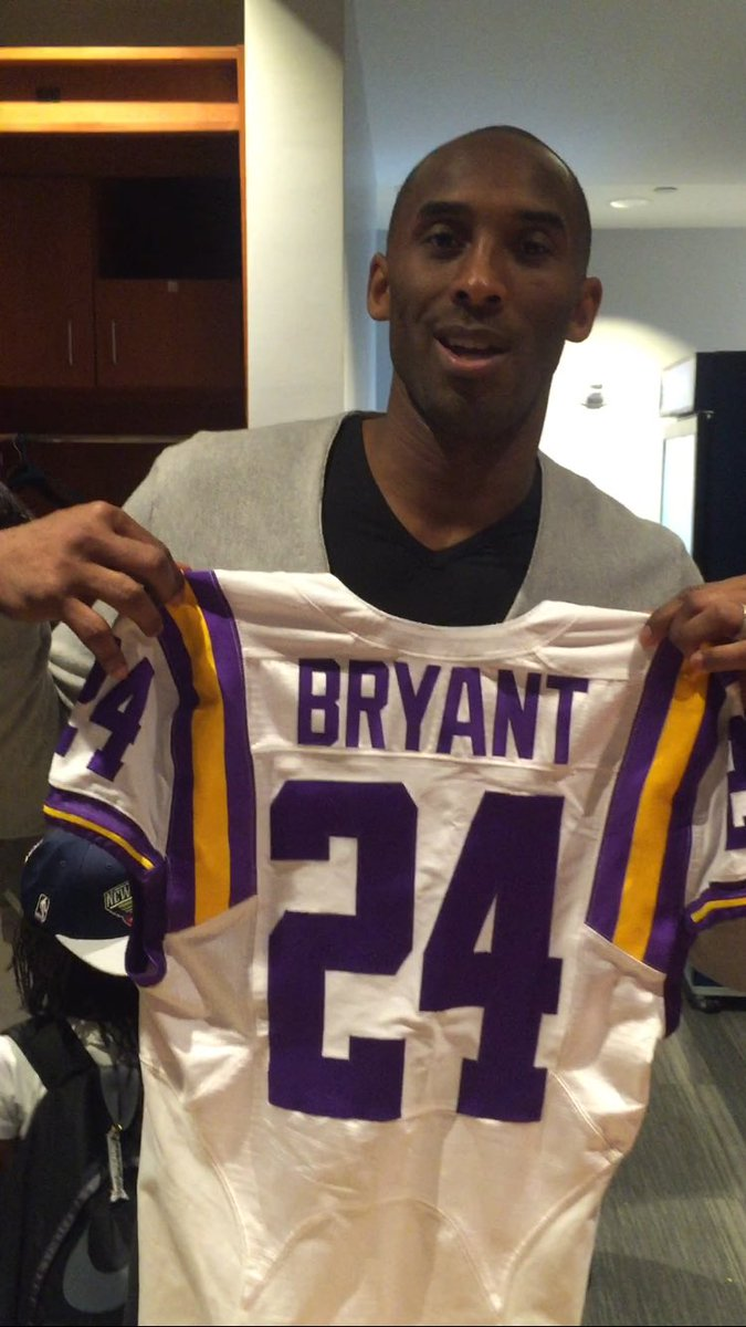 Had special LSU jersey made for Kobe in what was his final New Orleans  appearance. Waited to share until #MambaDay https://t.co/V38QPSHszU