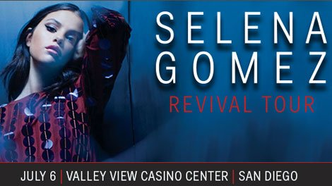 Selena Gomez makes her San Diego stop on Wednesday, July 6th! Enter to win a pair of tickets https://t.co/xvaUBO2aTm https://t.co/HubosWx2y0